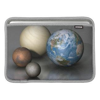 Los cuatro planetas terrestres fundas MacBook