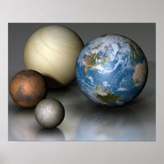 Los cuatro planetas terrestres poster