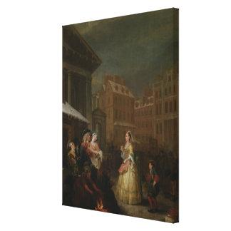 Los cuatro tiempos del día Mañana 1736 Impresión De Lienzo