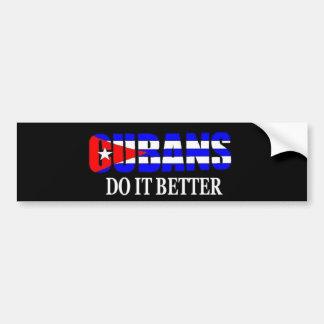 los cubanos mejora pegatina para auto
