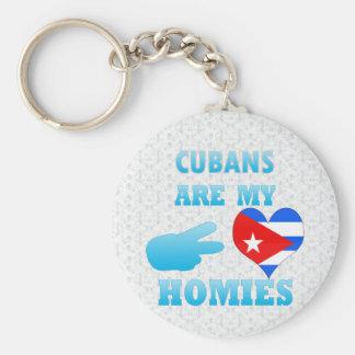 Los cubanos son mi Homies Llavero Redondo Tipo Pin