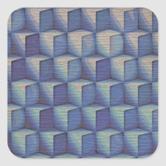 Los cubos del azul pegatina cuadrada