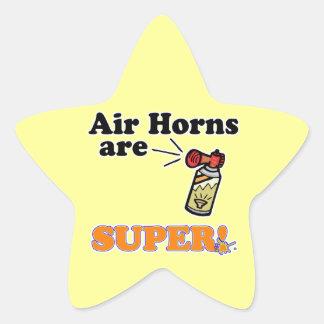 los cuernos del aire son estupendos colcomanias forma de estrellaes personalizadas