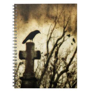 Los cuervos se juntan libro de apuntes con espiral