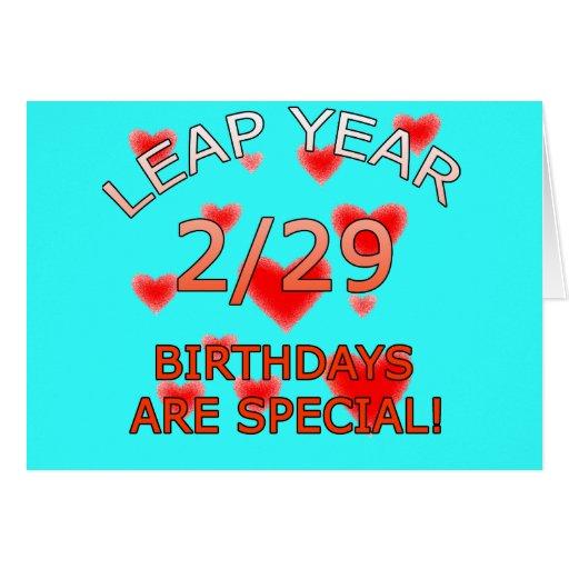 ¡Los cumpleaños del año bisiesto son especiales! Tarjeta De Felicitación