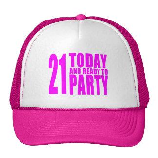 Los cumpleaños divertidos 21 de los chicas hoy y a gorro