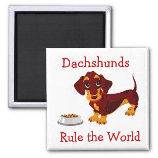 Los Dachshunds gobiernan el imán del perrito del d