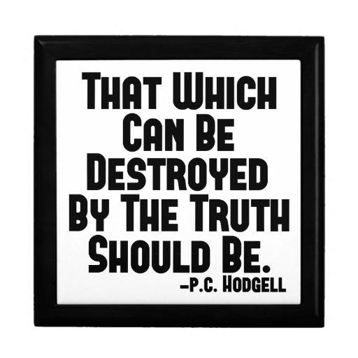 Los daños de la verdad joyero cuadrado grande