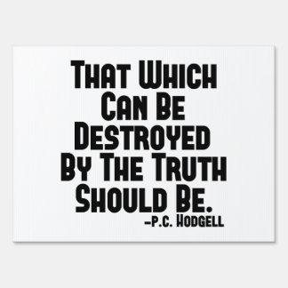 Los daños de la verdad señal