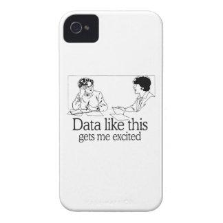 LOS DATOS COMO ESTO ME CONSIGUEN EXCITARON iPhone 4 Case-Mate CÁRCASAS