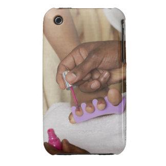 Los dedos del pie de la mujer de la pintura del Case-Mate iPhone 3 protector