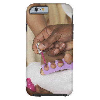 Los dedos del pie de la mujer de la pintura del funda de iPhone 6 tough