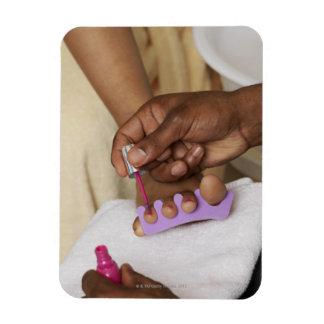 Los dedos del pie de la mujer de la pintura del ho imanes de vinilo