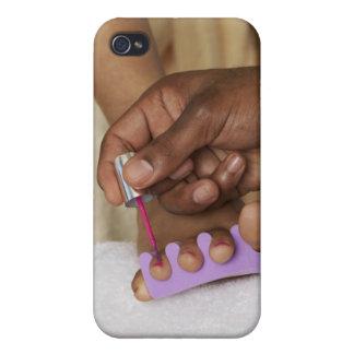Los dedos del pie de la mujer de la pintura del ho iPhone 4 carcasa