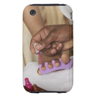 Los dedos del pie de la mujer de la pintura del iPhone 3 tough carcasa