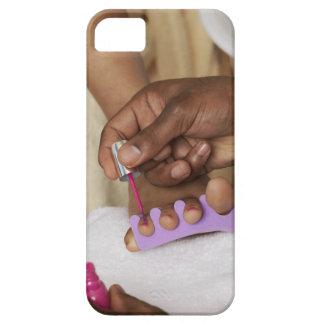 Los dedos del pie de la mujer de la pintura del iPhone 5 carcasas