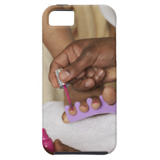 Los dedos del pie de la mujer de la pintura del iPhone 5 fundas