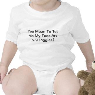 Los dedos del pie no son piggies traje de bebé