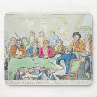 Los delegados en consejo o mendigos a caballo alfombrillas de ratones