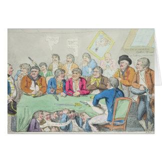 Los delegados en consejo o mendigos a caballo tarjetas
