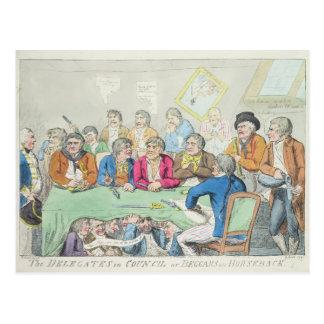 Los delegados en consejo o mendigos a caballo postal