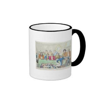 Los delegados en consejo o mendigos a caballo tazas de café
