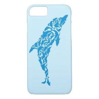 Los delfínes azules lindos que forman un delfín funda iPhone 7