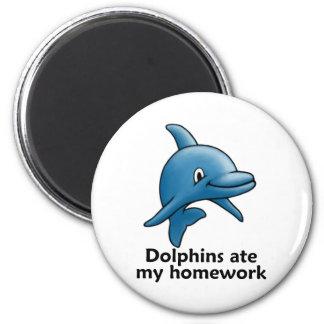 Los delfínes comieron mi preparación imanes de nevera