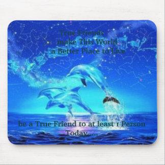 Los delfínes de neón, los amigos verdaderos      h tapetes de raton