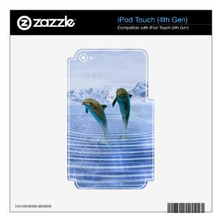 Los delfínes hacen la piel de las ondulaciones calcomanía para iPod touch 4G