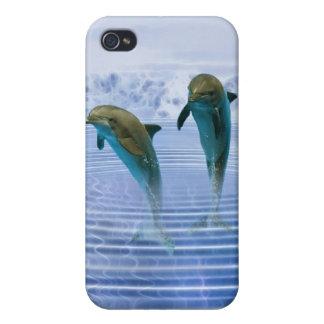 Los delfínes hacen ondulaciones iPhone 4 cárcasa