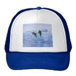 Los delfínes hacen ondulaciones gorro de camionero