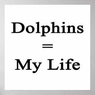 Los delfínes igualan mi vida poster
