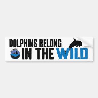 Los delfínes pertenecen en la pegatina para el par pegatina para auto