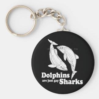 Los delfínes son apenas tiburones gay llavero
