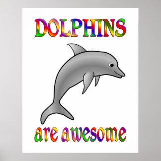 Los delfínes son impresionantes posters