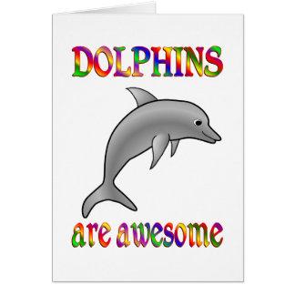Los delfínes son impresionantes tarjetas