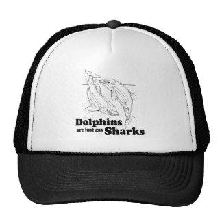 Los delfínes son tiburones gay gorro de camionero