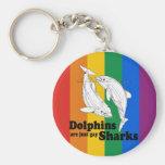 Los delfínes son tiburones gay llavero