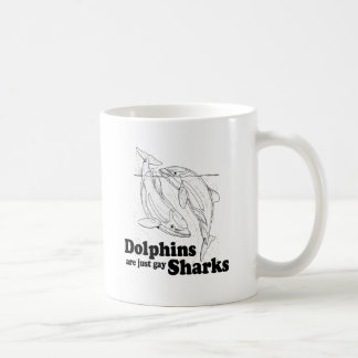 Los delfínes son tiburones gay tazas