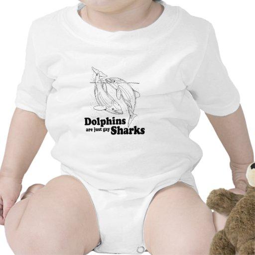 Los delfínes son tiburones gay trajes de bebé