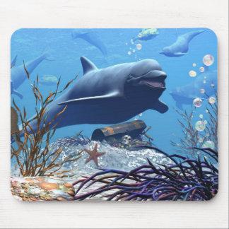 Los delfínes y el cofre del tesoro Mousepad