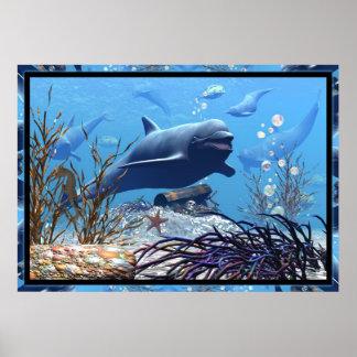 Los delfínes y el cofre del tesoro posters
