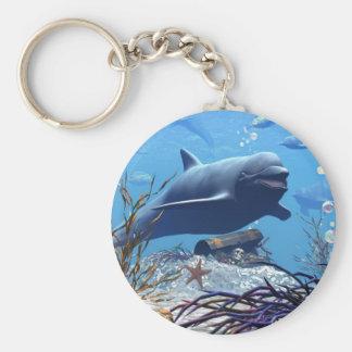 Los delfínes y el llavero del cofre del tesoro
