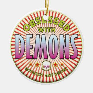 Los demonios obsesionaron R Adornos De Navidad