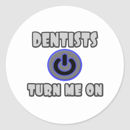 Los dentistas me giran pegatina redonda