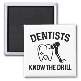 Los dentistas saben el taladro imán cuadrado