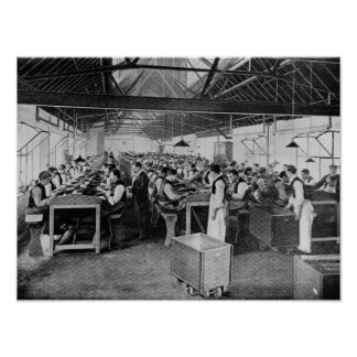 Los departamentos de la fabricación del cigarro póster