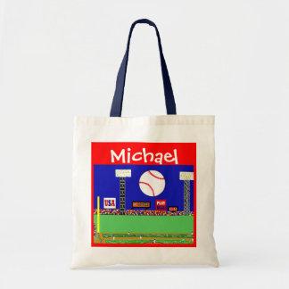 Los deportes de los niños personalizaron el regalo bolsa tela barata