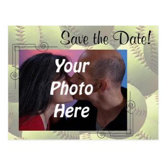 ¡Los deportes del softball que casan la foto del Tarjeta Postal